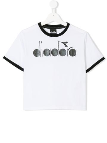 Diadora Junior Classic Logo T-shirt - White