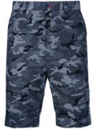 Loveless - Camouflage Shorts - Men - Cotton - 2, Blue, Cotton