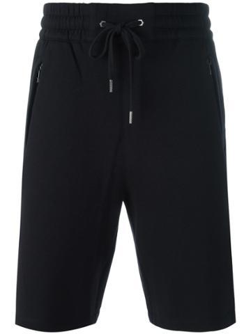 Helmut Lang Lace-up Detailing Track Shorts - Black