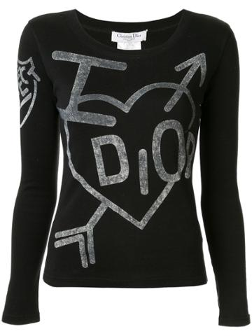 Christian Dior Pre-owned I Love Dior Fitted T-shirt - Black