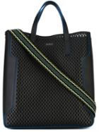Furla Marina Tote, Men's, Black, Calf Leather