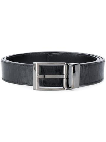 Bally Buckled Textured Belt - Black