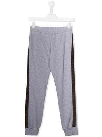 Fendi Kids Teen Logo Track Trousers - Grey