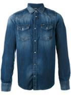 Diesel Denim Shirt, Men's, Size: Small, Blue, Cotton