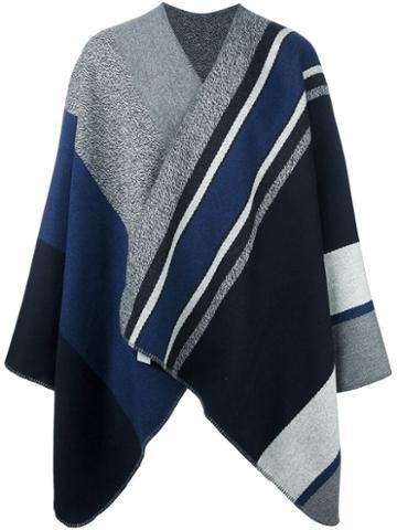 Barena Striped Cape Coat