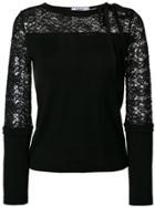 Blugirl Lace Panel Top - Black