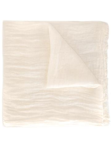 Faliero Sarti Nube Scarf, Women's, White, Linen/flax