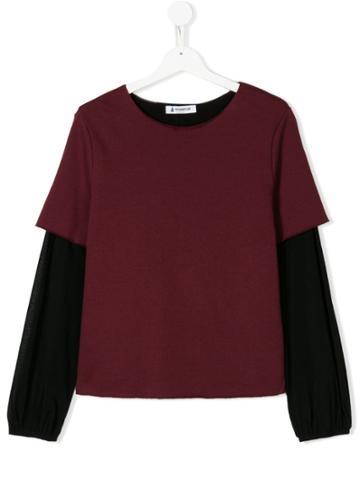 Dondup Kids Two-tone Sweatshirt - Red