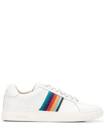 Paul Smith Striped Lace Up Sneakers - White