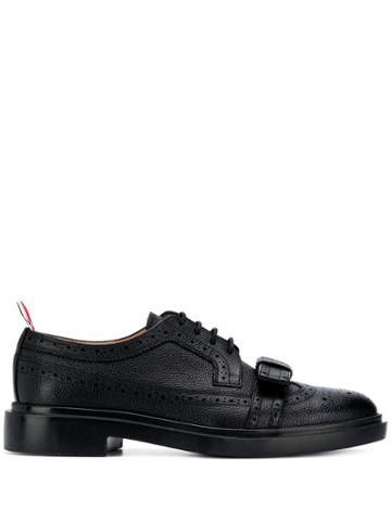 Thom Browne Brogued Bow Longwing - Black