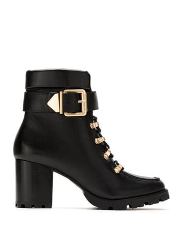 Schutz Schutz S2055600090001 Black Furs & Skins->leather