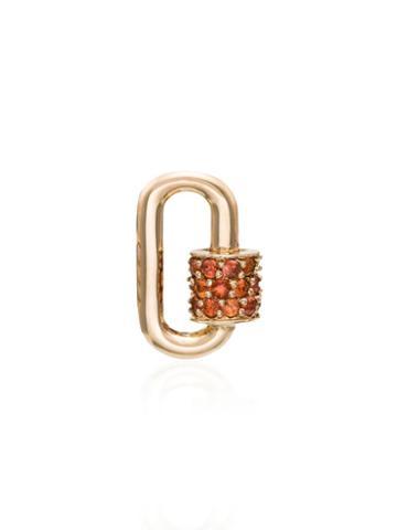 Marla Aaron Gold And Sapphire Lock Charm - Metallic