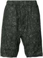 Chapter - Floral-print Shorts - Men - Cotton - 34, Black, Cotton