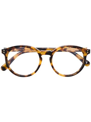 Stella Mccartney - Tortoiseshell Effect Eyeglasses - Women - Acetate - 50, Brown, Acetate