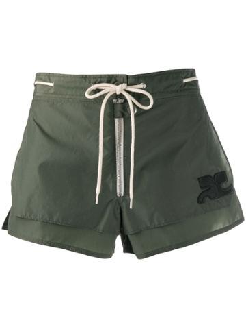 Courrèges Short Shorts - Green