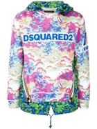 Dsquared2 Logo Printed Hooded Pullover - Multicolour
