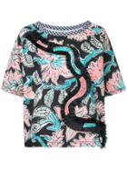 Antonio Marras Floral Print Shortsleeved Blouse - Black