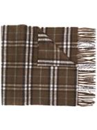 Burberry Check Cashmere Scarf - Brown