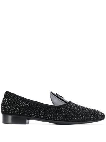 Giuseppe Zanotti David Flash Loafers - Black