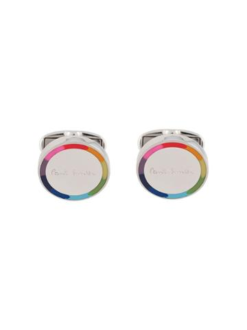 Paul Smith Rainbow Logo Cufflink - Metallic