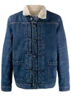 Levi's: Made & Crafted Sherpa Trucker Jacket - Blue