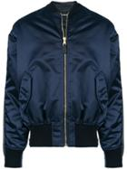 Balenciaga Bomber Denim Jacket - Blue