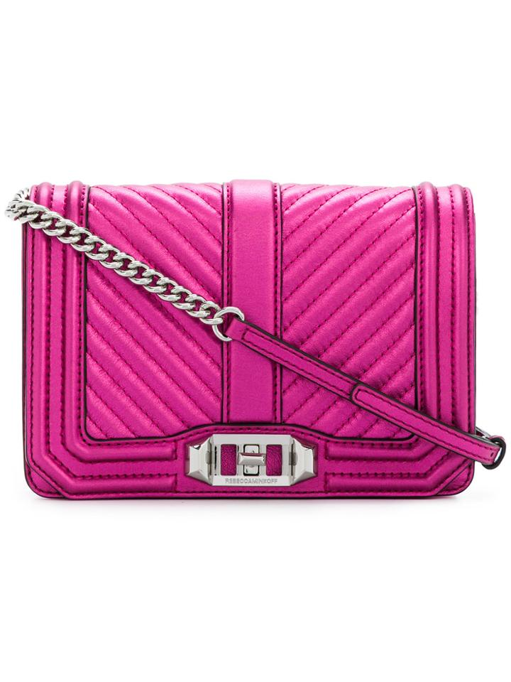 Rebecca Minkoff Quilted Shoulder Bag - Pink & Purple