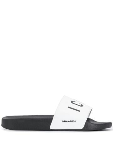 Dsquared2 Icon Slides - White
