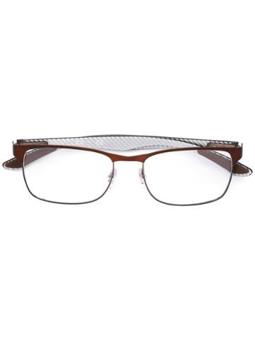 Ray-ban Square Frame Glasses, Brown, Carbon