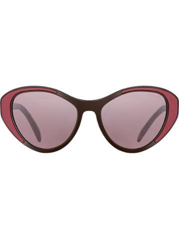 Prada Eyewear Prada Tapestry Eyewear - Red