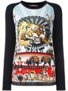 Roberto Cavalli Tiger Print Longsleeved Top