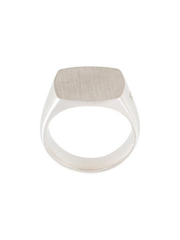 Tom Wood 'cushion' Ring, Men's, Size: 58.2, Metallic