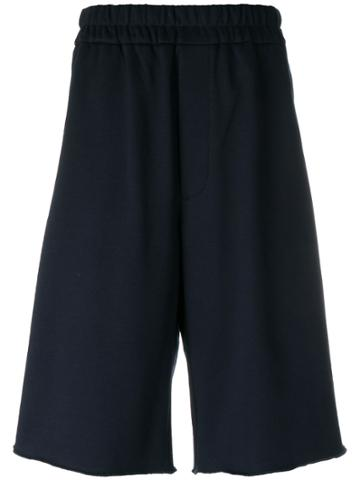 Jil Sander Drop-crotch Track Shorts - Blue