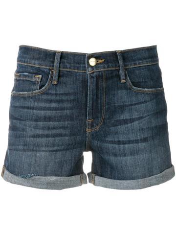 Frame Denim Short Shorts - Blue