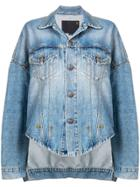 R13 Oversized Denim Jacket - Blue