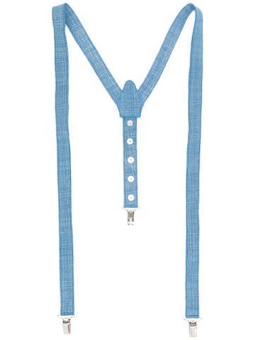 Manokhi - Denim Braces - Women - Calf Leather - One Size, Blue, Calf Leather