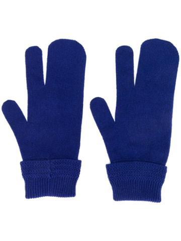 Maison Margiela Three-finger Gloves - Blue