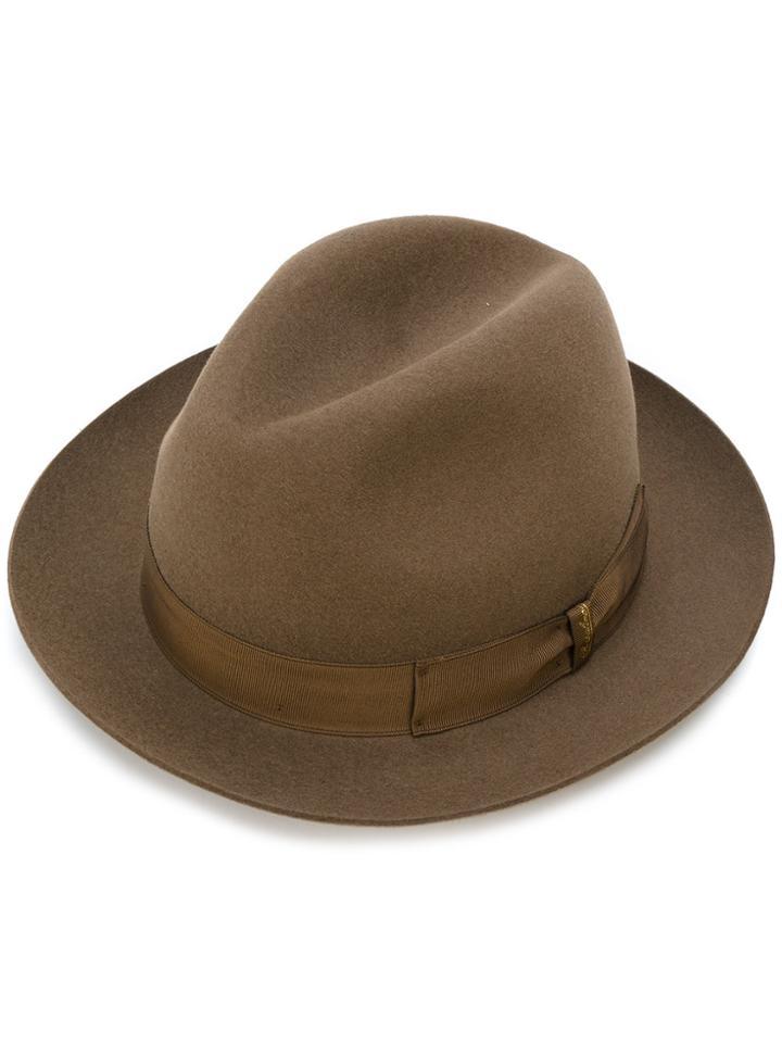 Borsalino Narrow Brim Hat - Brown