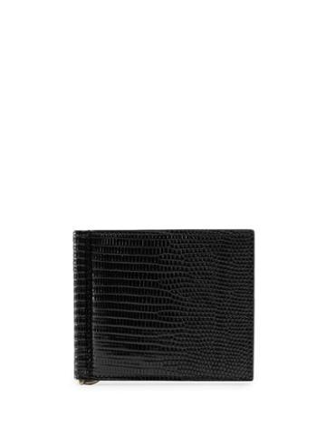 Gucci Lizard Money Clip Wallet - Black