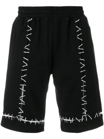 Ktz Pin Embroidered Track Shorts - Black