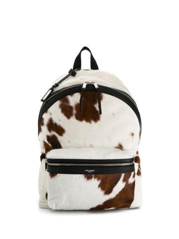Saint Laurent City Backpack - White