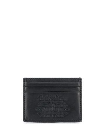 Polo Ralph Lauren Compact Engraved Logo Cardholder - Black
