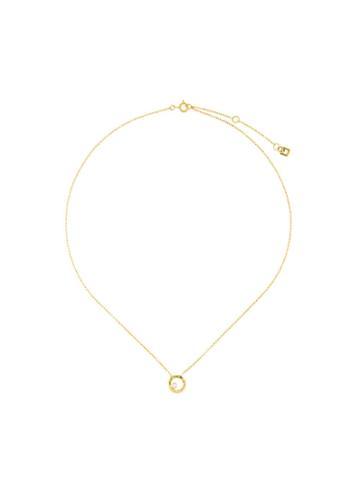 Maya Magal Circle Charm Necklace - Metallic