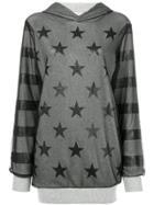 Twin-set Hooded Star Top - Grey