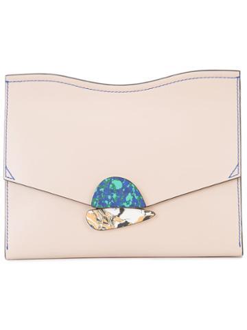 Proenza Schouler Envelope Clutch Bag, Women's, Pink/purple, Leather