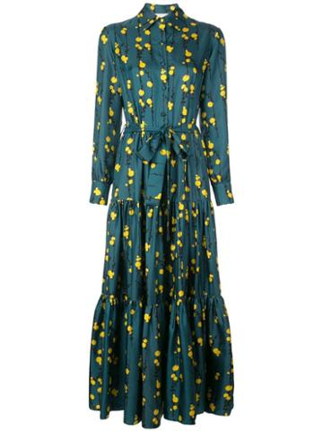 La Doublej Bellini Tiered Maxi Dress - Blue