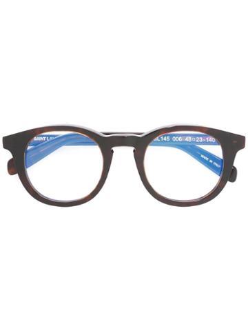 Saint Laurent - Round Frame Glasses - Unisex - Acetate - 48, Brown, Acetate