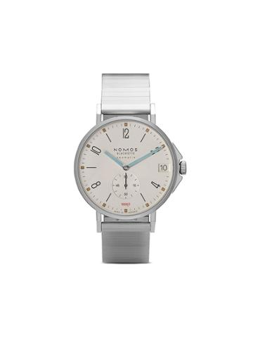 Nomos Tangente Sport Neomatik Date 42mm - White, Silver-plated