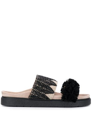 Inuikii Fuzzy Trim Slides - Black