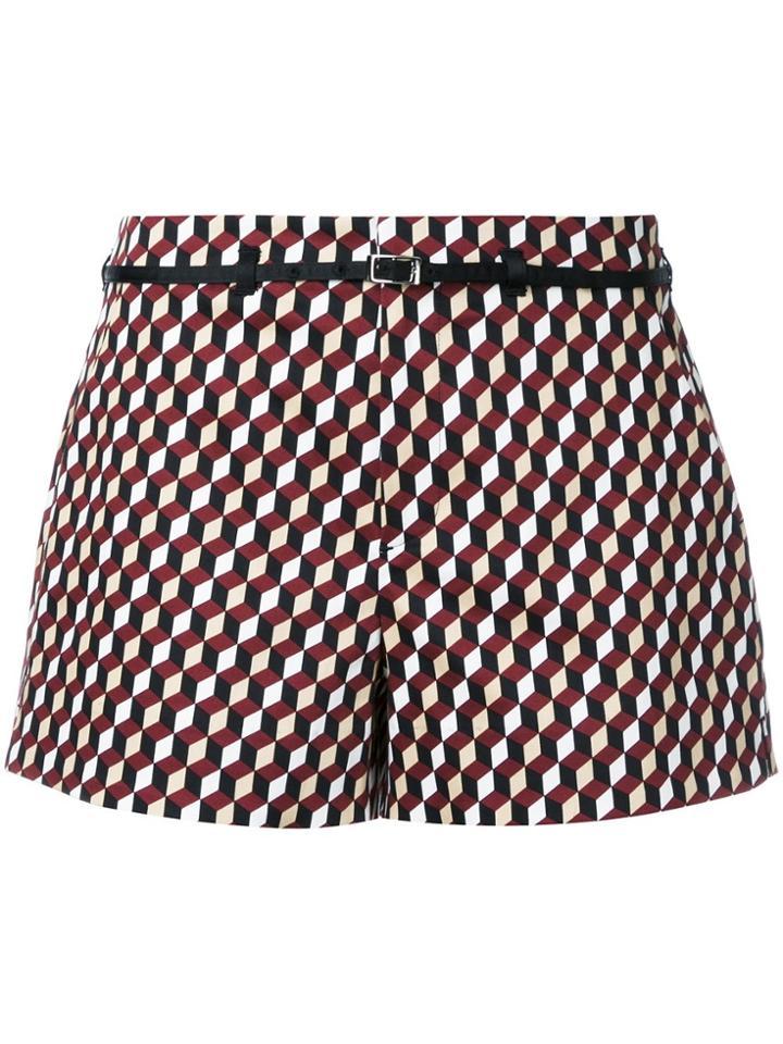 Loveless Cube Print Shorts - Multicolour